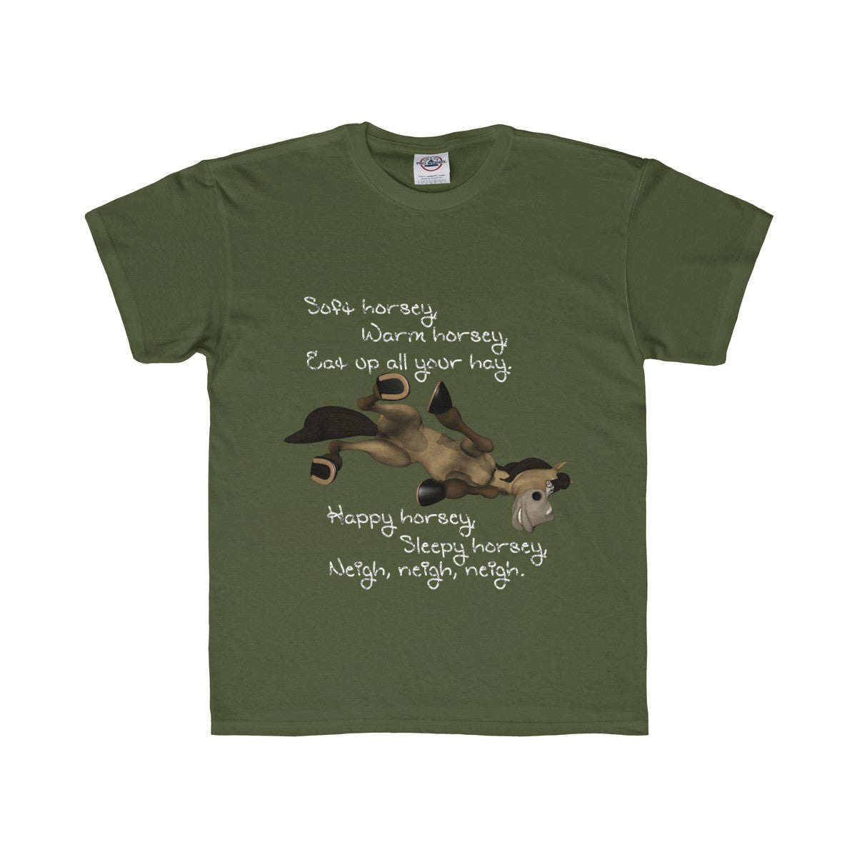 Warm Horsey Kids Regular Fit Tee - The Horse Barn