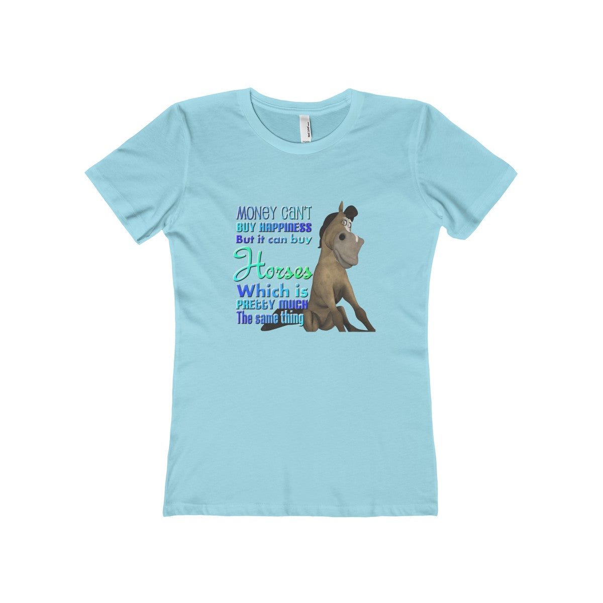 Can't Buy Happiness Women's The Boyfriend Tee - The Horse Barn