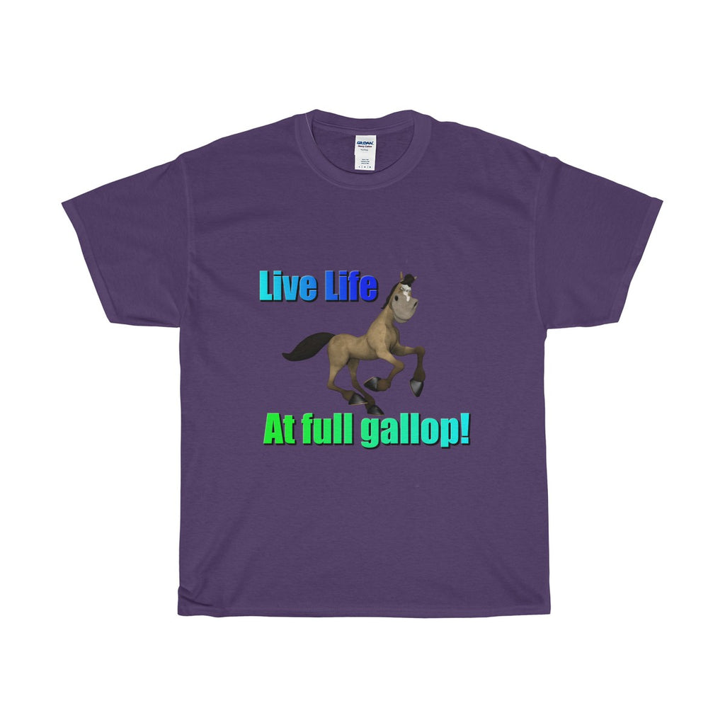 Live Life Unisex Heavy Cotton Tee - The Horse Barn