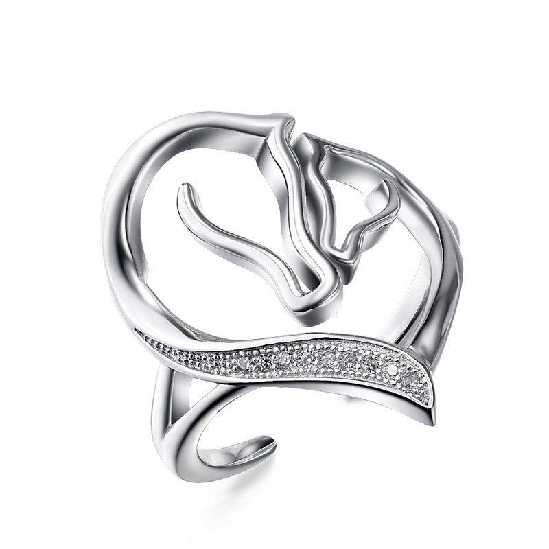A Horse Ring For Women .925 silver - The Horse Barn