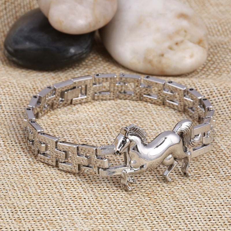 Stainless Steel horse bracelet - The Horse Barn