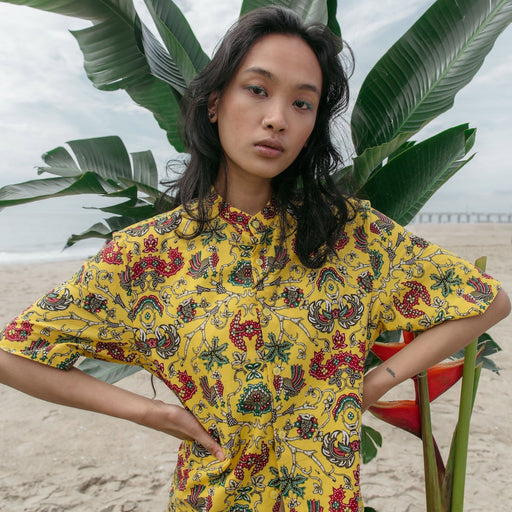 """Yellow Star"" Batik Shirt"