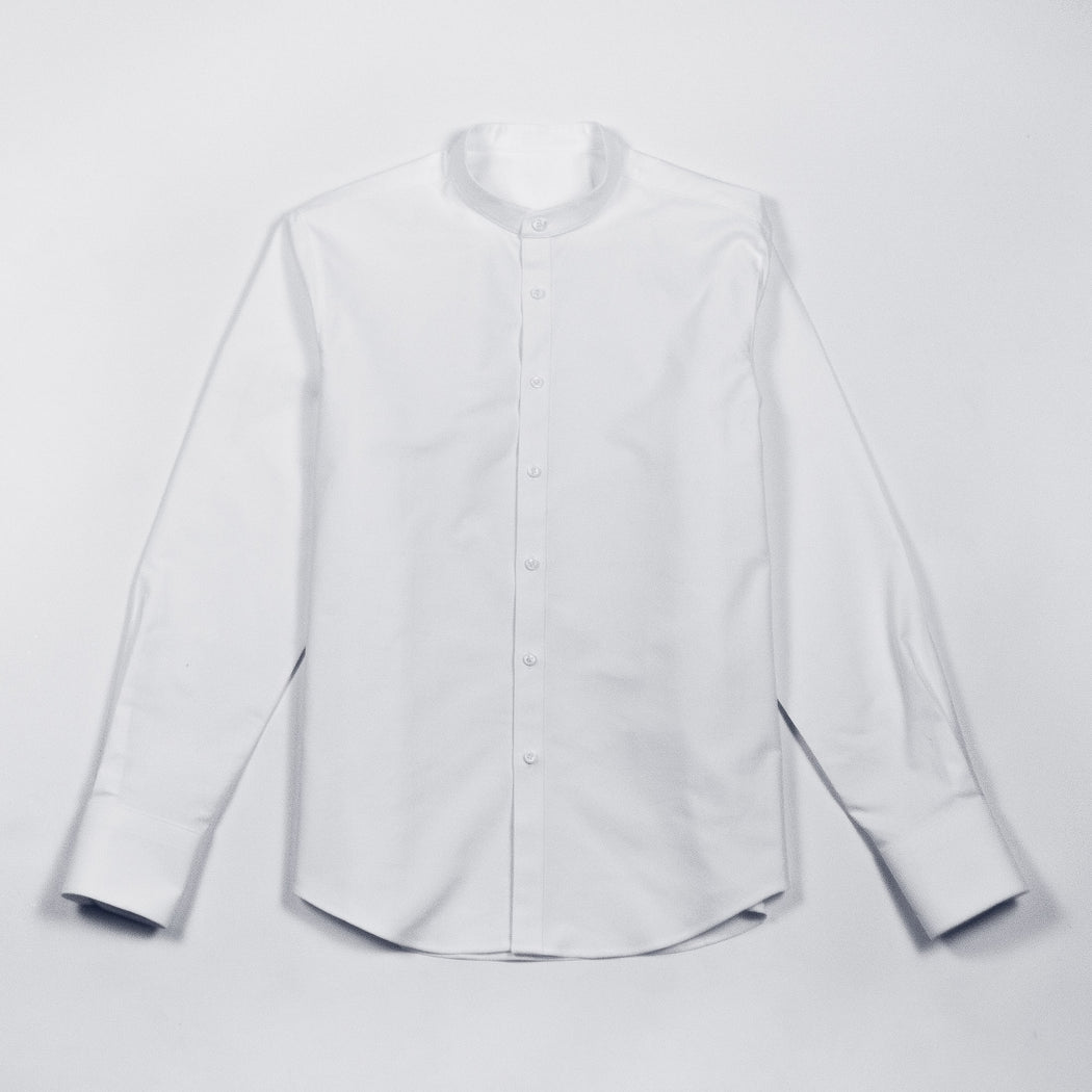 mandarin-collar-oxford-shirt