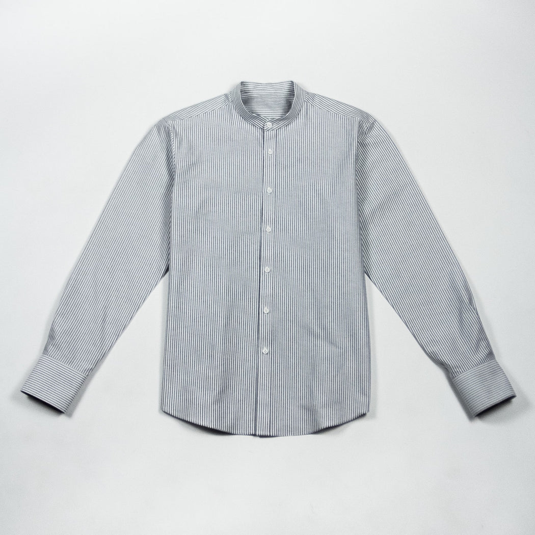 Mandarin-Collar Oxford Shirt