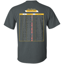 2016 NHL Draft t-shirt (table format)