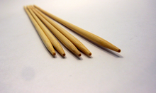 Double Pointed Bamboo Knitting Needles Sizes US 0-8 Metric 2mm - 5mm Extra Long 10""