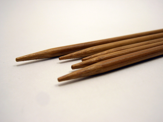 Double Pointed Bamboo Knitting Needles Sizes US 0-8 Metric 2mm - 5mm Extra Short 5