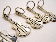 Handmade Silver Metal Stitch Markers ~ Acoustic ~ Set of 6
