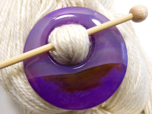 Natural Stone Agate Shawl Pin ~ Purple and Chocolate Agate #10048