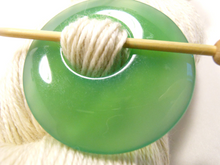 Natural Stone Agate Shawl Pin ~ Soft Green Agate #2322