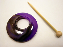 Natural Stone Agate Shawl Pin ~ Purple and Chocolate Striped Agate #3018