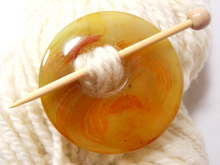 Natural Stone Agate Shawl Pin ~ Yellow and Red Agate #6031