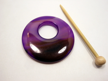 Natural Stone Agate Shawl Pin ~ Purple and Chocolate Striped Agate #9387