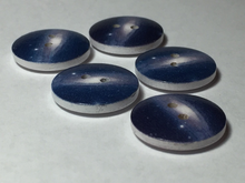 Wooden Galaxy Buttons ~ Medium ~ Set of 5 ~ Blue Galaxies