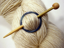 Natural Stone Shawl Pin ~ Blue Stone Ring A