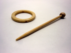 Bone Ring Shawl Pin