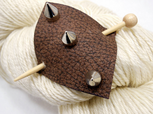 Studded Leather Shawl Pin ~ Brayhill