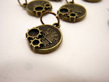 Handmade Antique Bronze Metal Stitch Markers ~ Steampunk ~ Set of 6