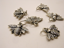 Handmade Silver Metal Stitch Markers ~ Bumblebee ~ Set of 6