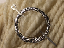 Silver Metal Shawl Pin ~ Burl