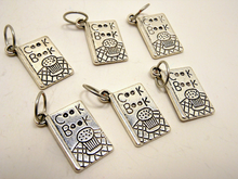 Handmade Silver Metal Stitch Markers ~ Cook Books ~ Set of 6