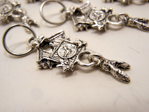 Handmade Silver Metal Stitch Markers ~ Cuckoo Clocks ~ Set of 6
