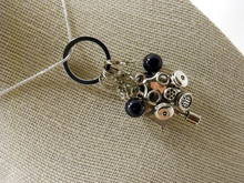 Handmade Silver Metal Crochet Stitch Marker Necklace ~ Whovian Collection ~ Dr Who Tardis, Sonic Screwdriver, Gas Mask