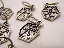 Handmade Silver Metal Stitch Markers ~ Dungeon Master ~ Set of 6 Dice