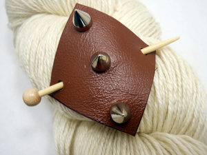 Studded Leather Shawl Pin ~ Eden