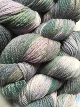 Pike: Fairy Frost Hand Dyed Wool Angora Blend Fingering Weight Yarn