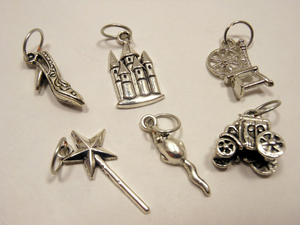 Silver Metal Stitch Markers ~ Fairy Tale ~ Set of 6