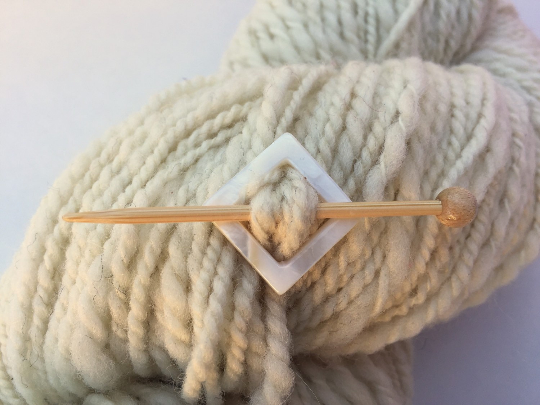 Mother of Pearl Square Shawl Pin
