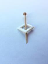 "Mother of Pearl Square Shawl Pin ""Go!"""