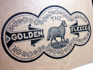 "Vintage Style 4X6"" Notecards ~ Golden Fleece"