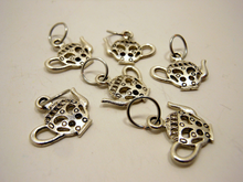 Handmade Silver Metal Stitch Markers ~ The Good China ~ Set of 6