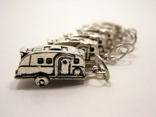 Handmade Silver Metal Stitch Markers ~ Hoh Rainforest ~ Set of 6 Camper Stitch Markers