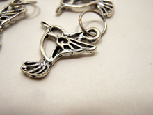Handmade Silver Metal Stitch Markers ~ Hummingbirds ~ Set of 6