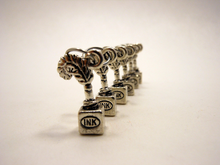 Handmade Silver Metal Stitch Markers ~ Inkwell ~ Set of 6