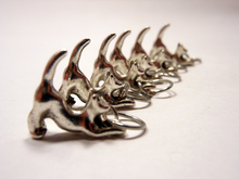 Handmade Silver Metal Stitch Markers ~ Kitties ~ Set of 6