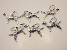 Handmade Silver Metal Stitch Markers ~ Labs ~ Set of 6