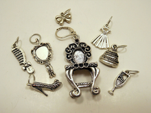 Handmade Silver Metal Stitch Markers ~ Let Them Eat Cake! ~ Set of 8 Stitch Markers