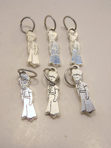 Handmade Silver Metal Stitch Markers ~ The Little Prince ~ Set of 6