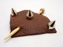 Studded Leather Shawl Pin ~ Lockport