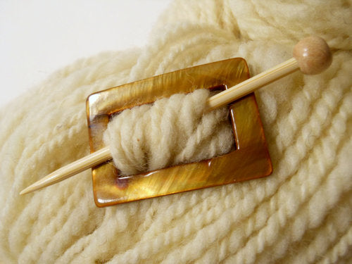 Log Jam ~ Mother of Pearl Shawl Pin