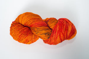 Mismated :  Autumn on Gilman ~ Superwash Merino Wool and Silk