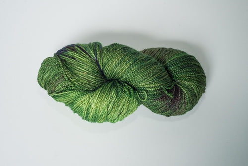 Mismated :  Blackberry ~ Superwash Merino Wool and Silk