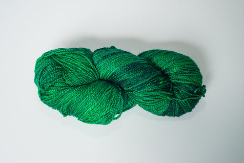 Mismated :  Emerald City ~ Superwash Merino Wool and Silk