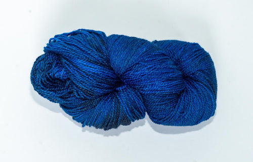 Mismated :  Steller's Jay ~ Superwash Merino Wool and Silk