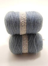 Mist: Hand Dyed Lace 100% Superfine Baby Alpaca ~ Vashon ~ 55 Grams 620 Yards ~ One of a Kind Dyelot ~ Hand Dyed Semi Solid Blue Lace