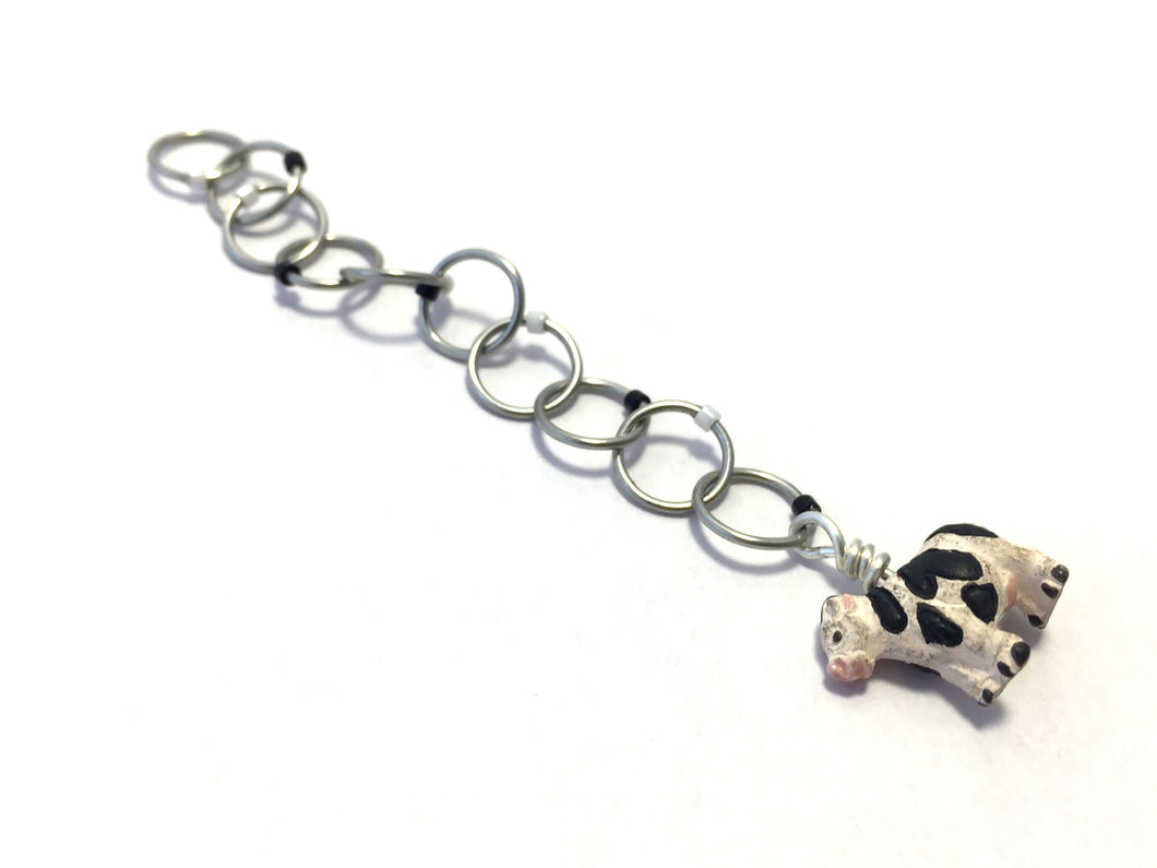 Snagless Beaded Chain Row Counter ~ Moooooo